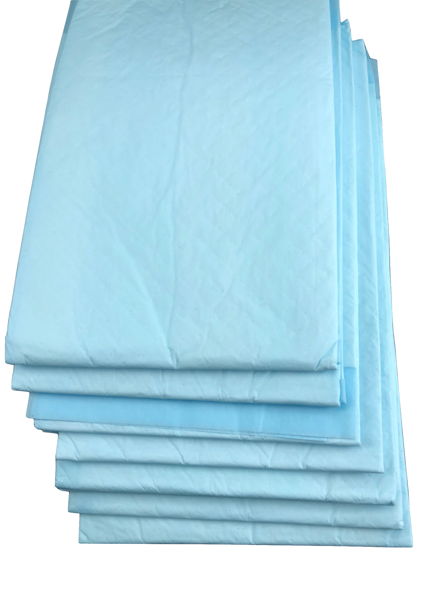 Waterproof plastic backed medical surgical incontinence underpad pads