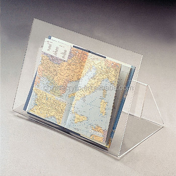Factory Direct Selling Brochure Holder With Business Card Pocket