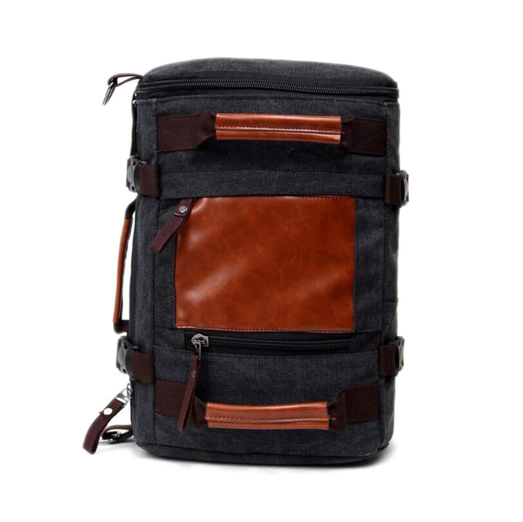 Gbog Multifunctional Canvas Bag Shoulder Bag Handbag Messenger Bag Large Capacity Outdoor Travel Luggage Bag 3 in 1 Unisex PU Sports Bag Handbag