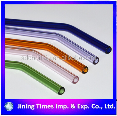 Environmental bent round mouth glass straw flint glass bent round mouth straw bent round mouth straw