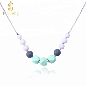 Wholesale China Supplier Teething Silicone Costume Jewelry Fashion Necklaces