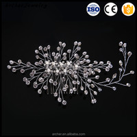 2017 Bridal Collection Wedding Hair Accessories pearl Flower Party Hair Side Decorative Comb bridal hair accessories HA-213
