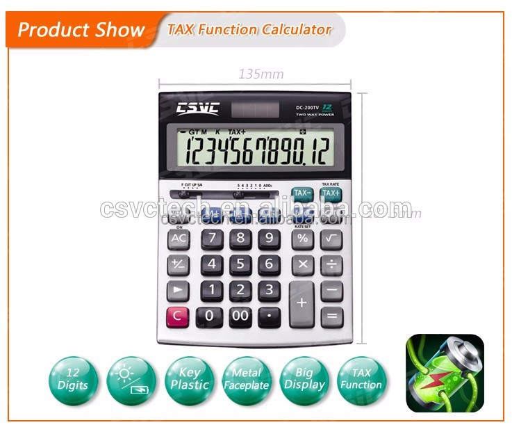 Manufacturer Supplier 12-digits electronic calculator for shantui spare parts