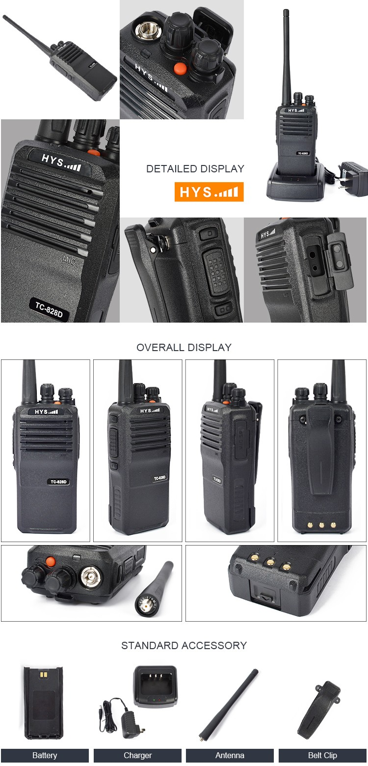 Most Powerful DMR Encrypted 20KM Range Two Way UHF VHF Walkie Talkie with GPS