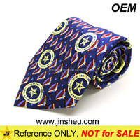 China Embroidery Manufacturer Promotional Custom Silk Printed Tie