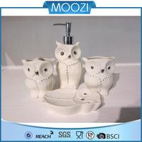 Animal Shape Ceramic Bathroom Set,Promotion Gift Ceramic Accessories Set