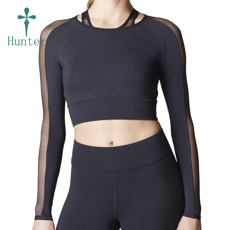 New Fashion Fitness Abbigliamento All'ingrosso Lycra T Shirt Donna Crop Tops