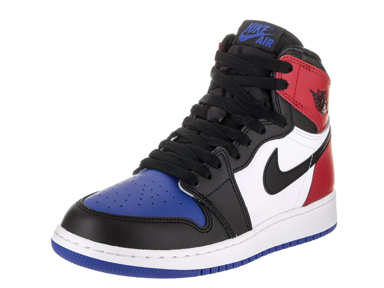 separation shoes 6d8d1 a5d07 Get Quotations · Nike Air Jordan 1 Retro High Top 3 Pick OG BG LTD Sneaker  Current Collection black