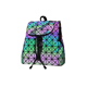 Unique Geometric Pattern folding backpack female girls small backpack