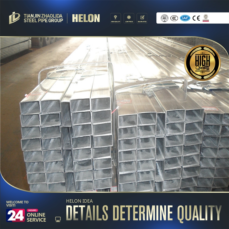 1387 hot diped galvanized ! galvanized steel tube rhs mills 120x120 galvanized square tube