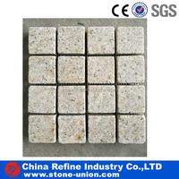 yellow Granite tumbled Mosaic tiles 300x300mm