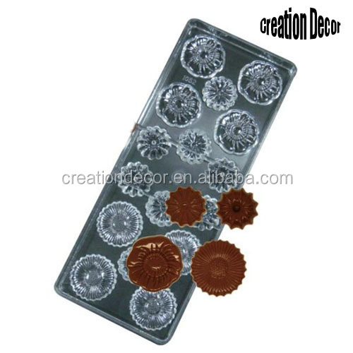 Wholesale flower design Poly Carbonate choco mould
