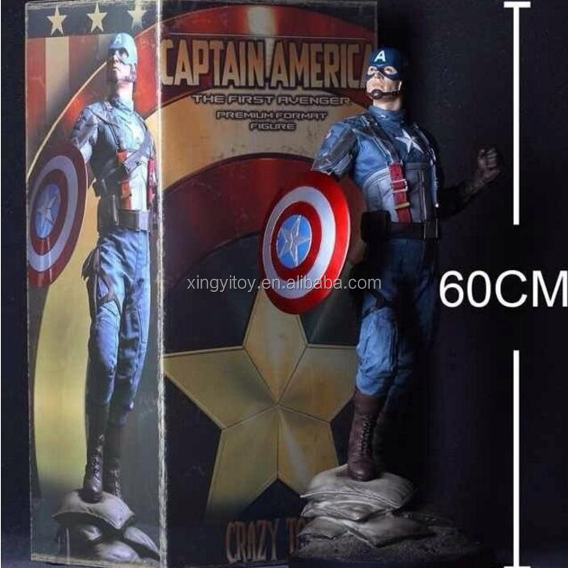 Crazy Toys Marvel Movie Super Hero 1/4 Scale Captain America 60 cm Toy action figure