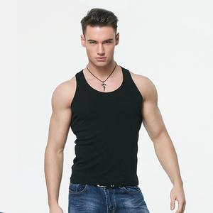 cae07b58c4511 Wholesale 100% Cotton Plain White Tank Top Men Bodybuilding Muscle training  Gym Tank Tops