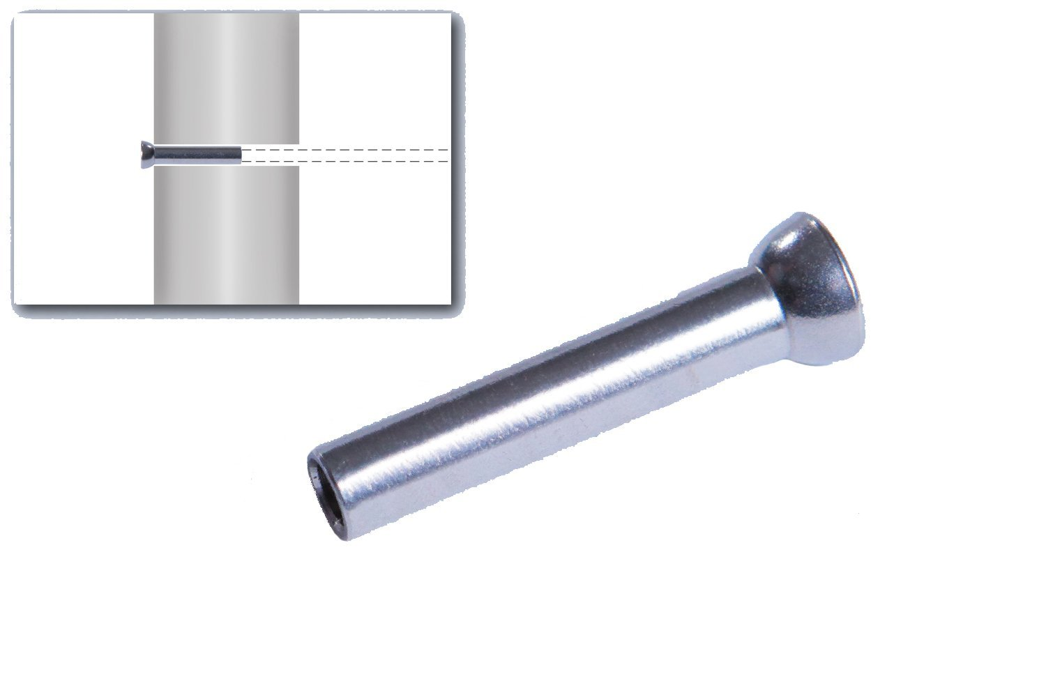 """VistaView CableTec Stainless Steel Hand-Crimp Stemball Swages for 3/16"""" Cable Railing with Stainless Washers (Lot of 10)"""
