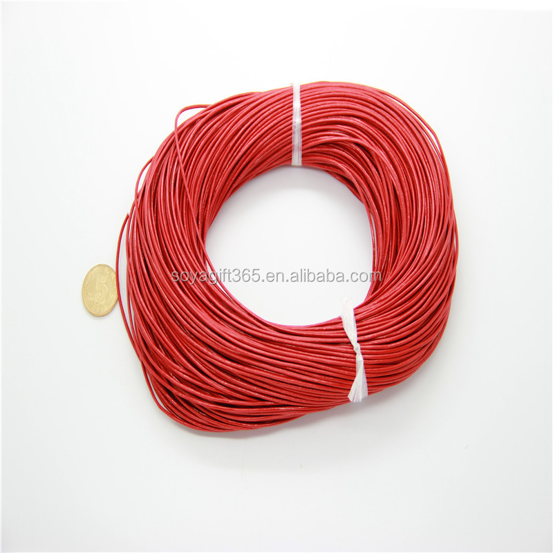 Round Light-Red String TO DIY Jewelry Accessories Cord For Bracelet Necklace Rope