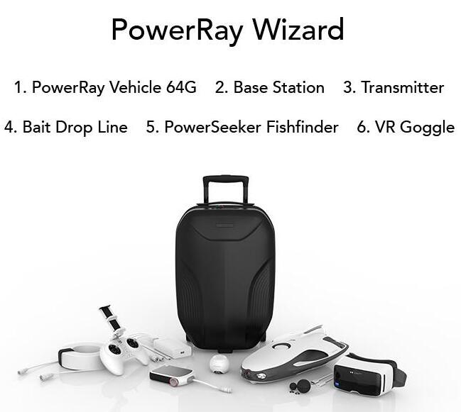 PowerRay Remote controll Bait drop fishfinding underwater drone
