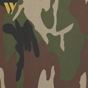 Supply printing textile waterproof 600d PVC camouflage oxford fabric for military bag
