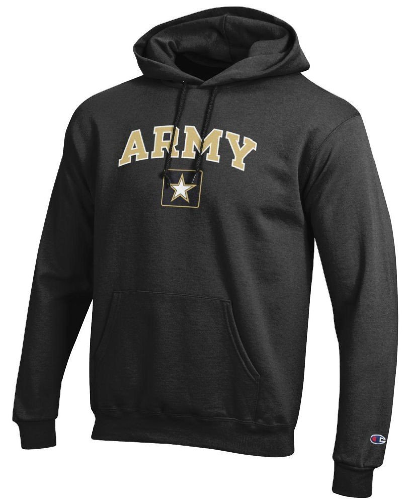 Army Black Knights Stadium Powerblend Screened Hoodie Sweatshirt by Champion