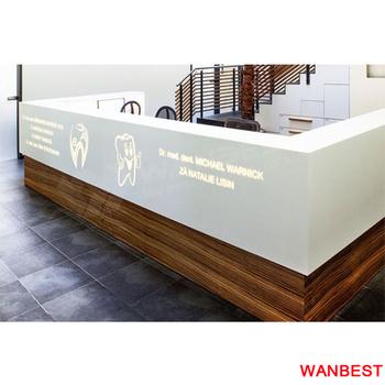modern wooden office counter desk buy wooden. Modern Lighted U Shape Marble Top Wooden Office Spa Restaurant Reception Cashier Counter Desk Buy H