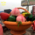 Garden decoration Fiberglass cartoon Large Fruit and basket Sculpture Statue
