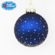 Dark blue sky glitter spots personalized Christmas tree ornament painting glass blown decoration ball