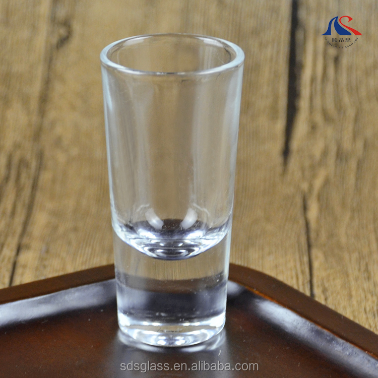 Wholesale Drinking Cup 30ml Thick Bottom Shot Glass 1oz Bullet Glass