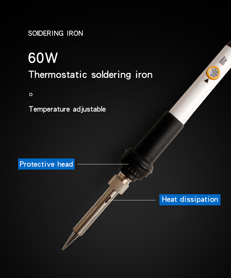 60W Digital Display Adjustable thermostat temperature controlled Soldering Iron Welding Equipment Soldering station kit set