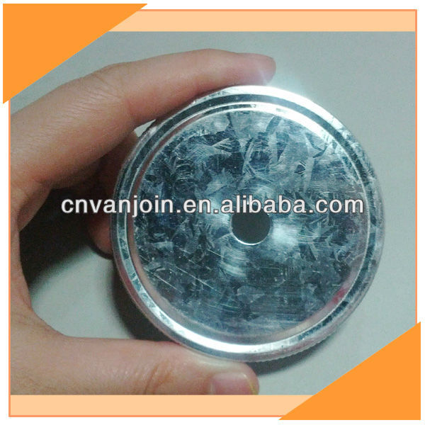 Galvanized Metal Cap With Hole For Straw 70MM