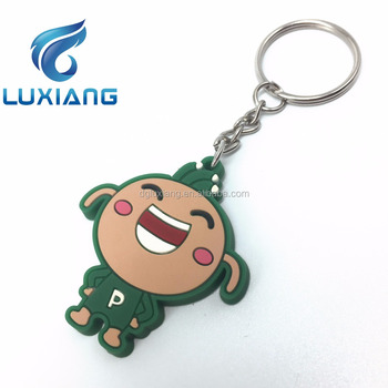 promotional gift soft pvc keychain custom rubber keyring silicone keychains