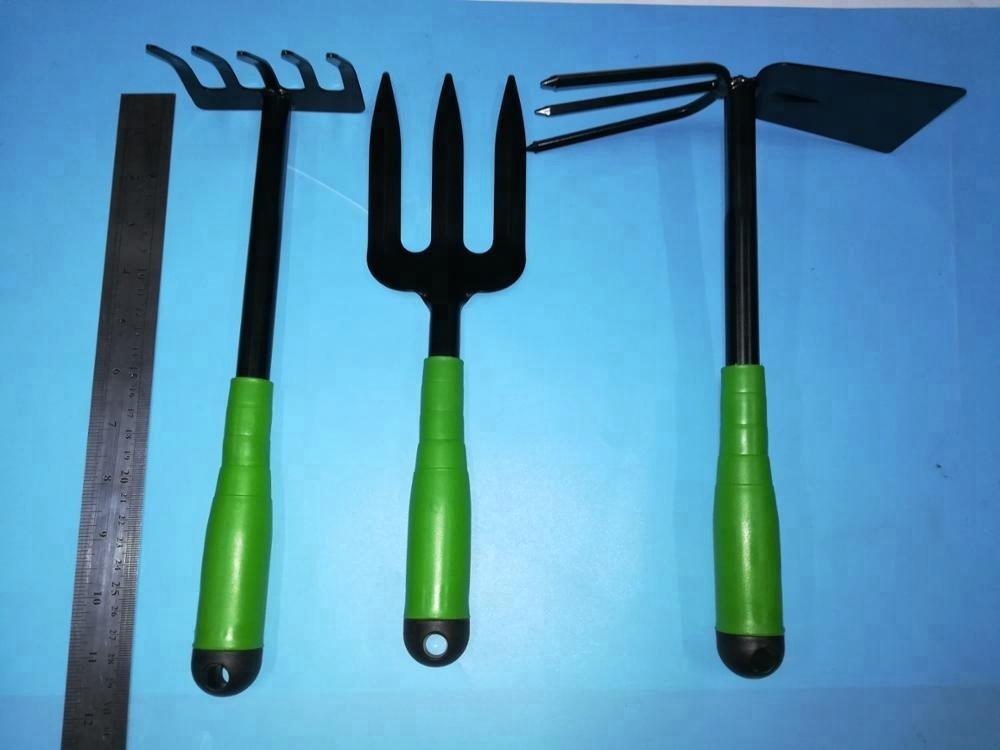 Kind tuingereedschap met afdrukken handvat, houten handvat tuingereedschap, 3pcs tuin gereedschap set