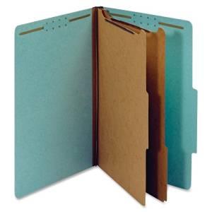 Wholesale CASE of 5 - Globe-Weis Colored Pressbrd Classification Folders-Classification Fldrs,25pt,2-Div,Lgl,2-1/2 Exp,10/BX,BE