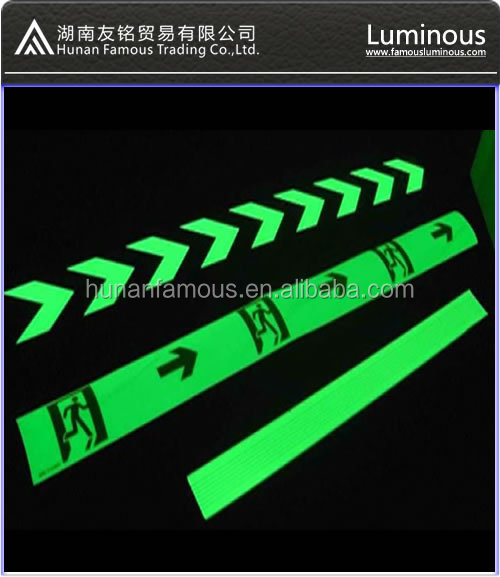 Photoluminescent Exit Signs- glow in night