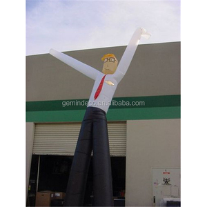 Top selling shirt and black pants wearing glasses white-collar worker inflatable wiggly arm guy
