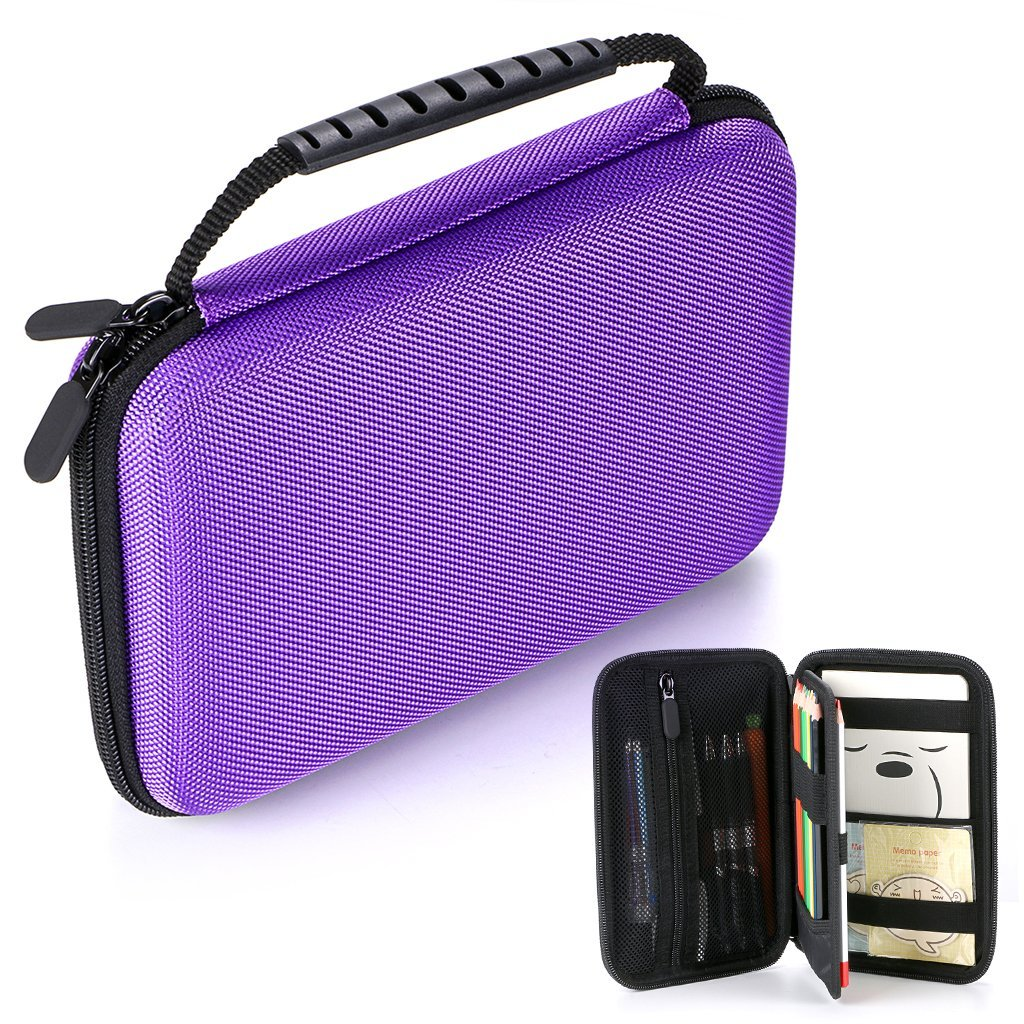 BTSKY EVA Pencil Case -- Protective Zippered Pen Box Pencil Holder Organizer for Colored Pencils, Gel Pens, Thin Markers and School Supplies (Purple)