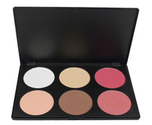 PRO 6 full color blush contour foundation combination makeup kit