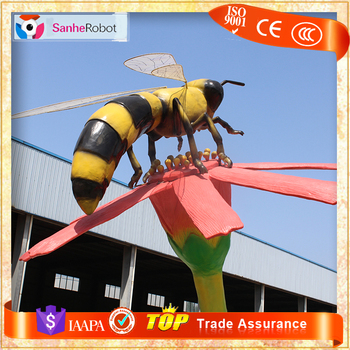 SH RI021 Vivid Garden Decor Insect Animatronic Bee For Sale