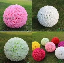 Umělá hedvábná květinová koule, 25 cm