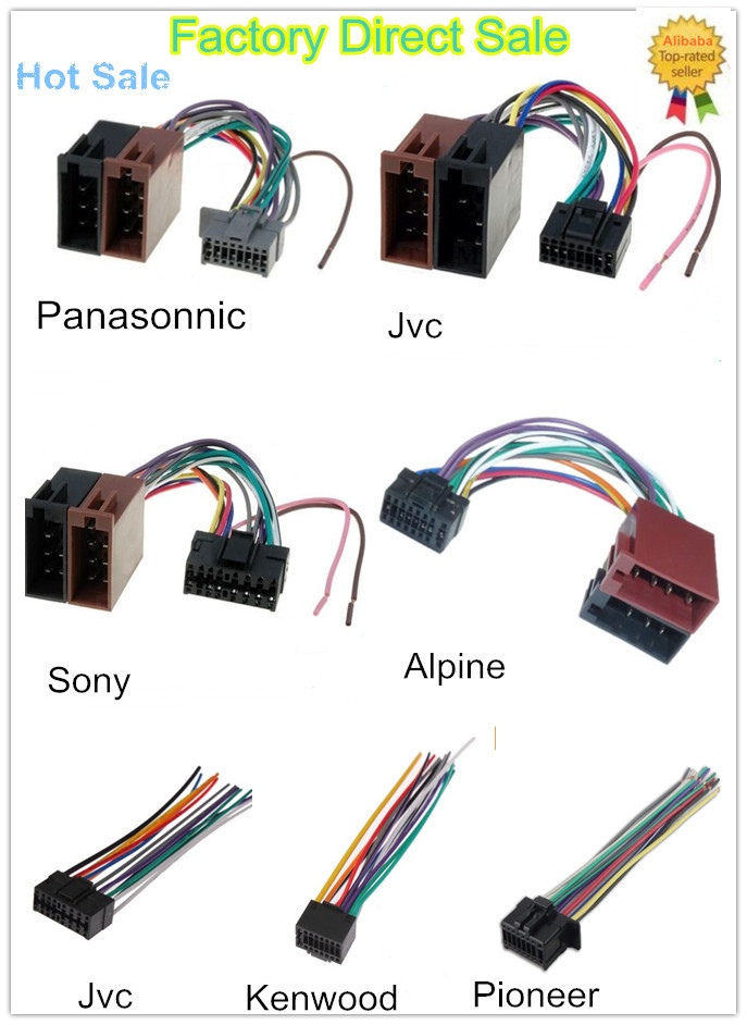 iso connection harness pioneer wiring harness to suit avh 285bt rh alibaba com