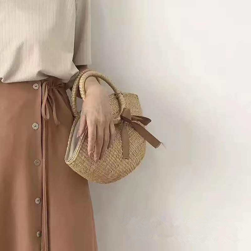 ANGEDANLIA shoulder straw tote leather handles online for women-5