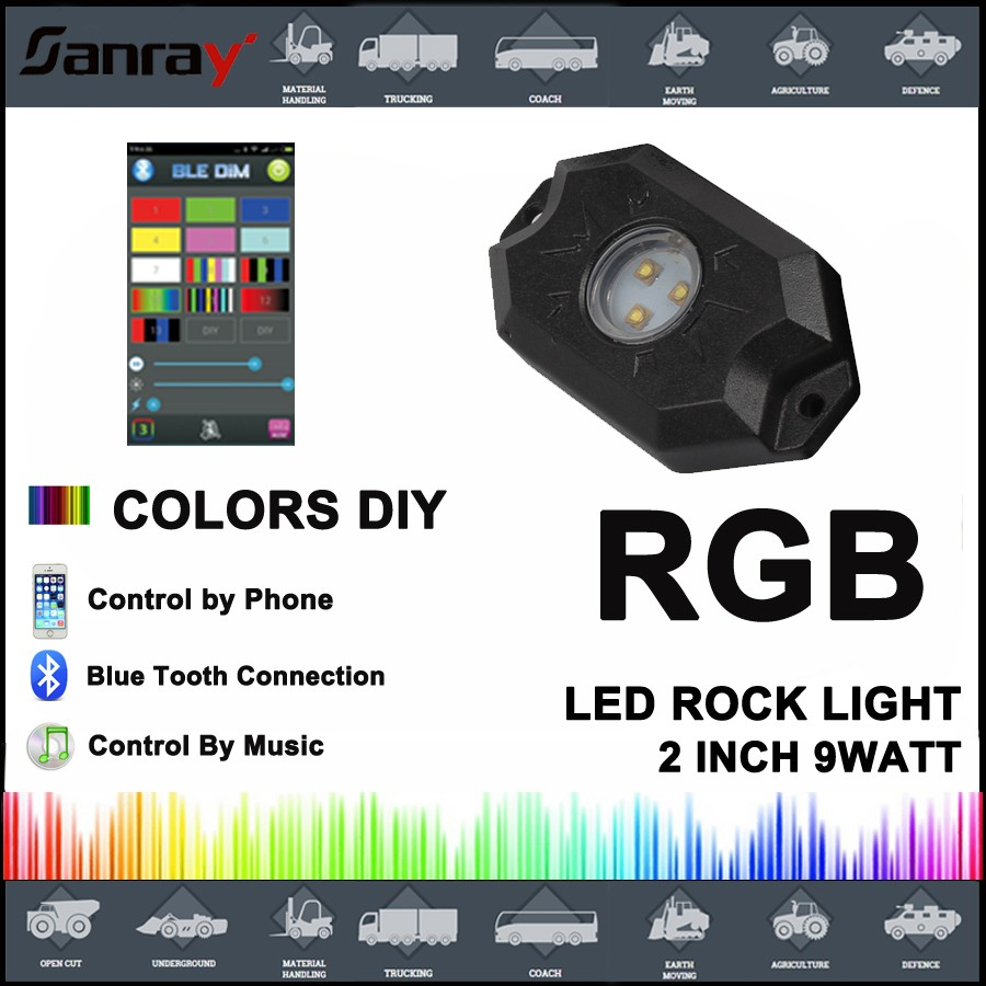 Affordable Wholesale Wholesale Blue Tooth Rgb Led Rock Light Controlled  Phone With Control Lights With Phone