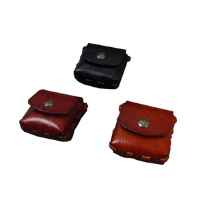 European Style Antique Leather Coin Pouch High Quality Small Men's Coin Wallet