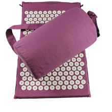 Chinese acupressure mat and pillow massage set with low cost and high quality
