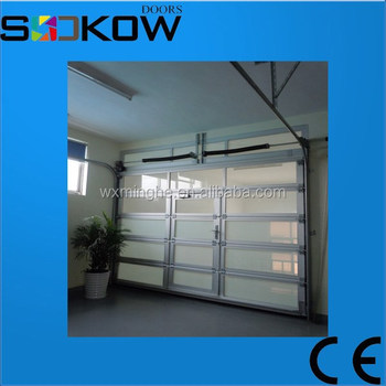 China Suppliers Glass Panel Garage Doors/garage Door Safety Aluminum Glass Garage  Door/used