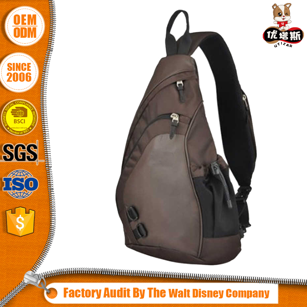 Top Grade Preferential Price Oem Logo Wholesale Men Leather Sling Bag