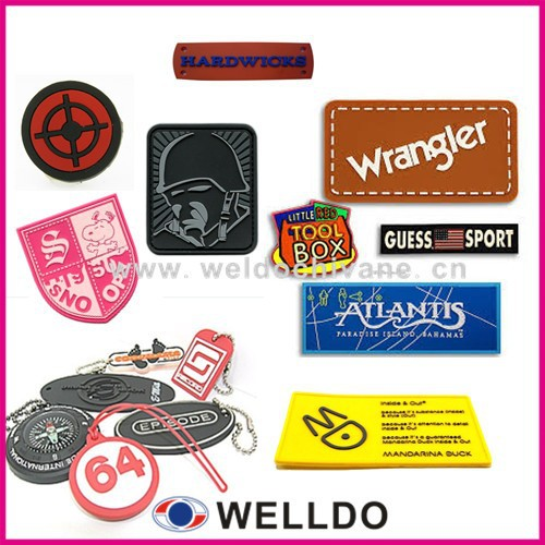 wholesale customize soft pvc plastic label