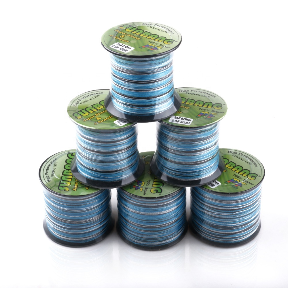 Super Strong Durable 300 meters Braided Wire Fishing PE fishing line 4 Strands Braided Fishing Line, As photo
