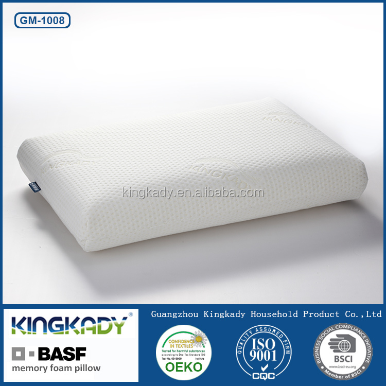 Hot quality bright color upholstery fabric bamboo cover bedding set decorative memory foam pillow