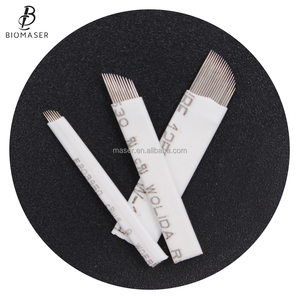 good quality manual permanent makeup pen needles 3D eyebrow microblading blades semi permanent makeup blades