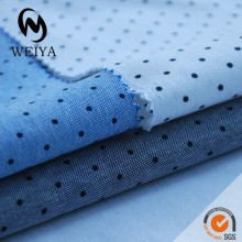 Polka dot printed cotton fabric for clothes
